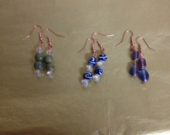 Handcrafted earrings and rings