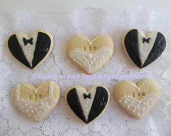 Wedding Cookie Favor Decorated Sugar Cookies Bridal Shower Gift
