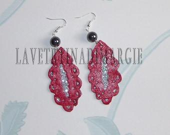 EARRINGS-Leather earrings