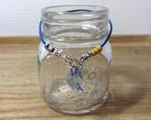 Crescent Moon Swarovski Pendant Bracelet