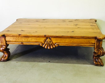 Lovely Claw foot coffee table