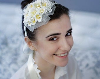 Floral Crown Flower Wedding Headband Bridal Floral Headpiece