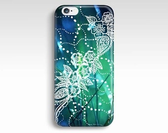 Green iPhone 6 Case, Floral iPhone 5s Case, iPhone 5 Case, iPhone 5C Case, iPhone 5 Case, iPhone 4s Case, iPhone 4 Cover, iPhone 6 Plus Case
