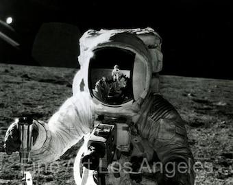 NASA photo, astronaut Alan Bean on the moon, Apollo 12, photo by Pete Conrad