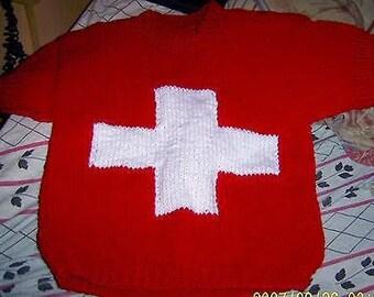 t-shirt Swiss flag for child