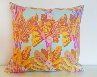 """60's Psychedelic Woodland Cushion. 100% Organic Cotton Designed by Kaffe Fassett Studios. Suitable For 16x16"""" 18x18"""" 20x20"""" and 22x22"""" pads."""