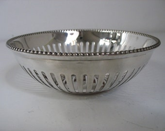 Vintage Silver Plated Candy Bowl