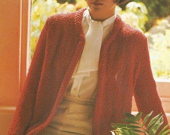 Vintage 60's Style Ladies Jacket Knitting PDF pattern