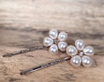 Pearl and Diamond Hair Pin