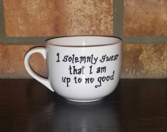 I solemnly swear that I am up to no good mug