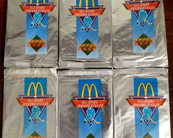6 PACKS 1991 McDONALD/UPPERDECK hockey cards