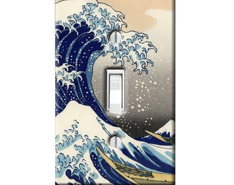 Light Switch Cover - Great Wave Asian Japanese Art Traditional