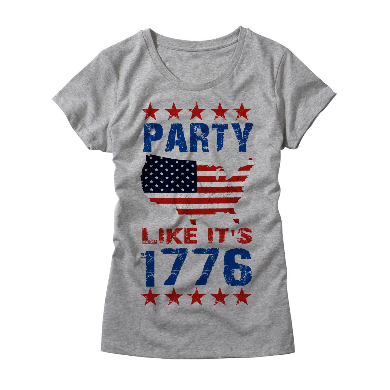 Womens Party Like its 1776 Shirt Funny Ladies USA TShirt