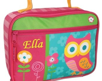 Personalised Children's Lunch Boxes - Pink Owl