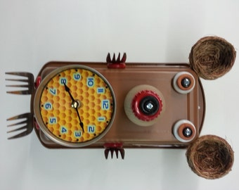 Handmade Bear Clock