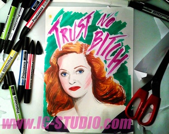 Trust no bitch N2 - Bette Davis © Iván García  (Limited edition prints, signed and numbered)