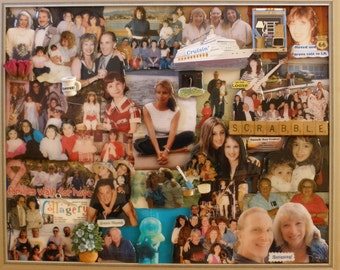 "Custom 3D Personalized Birthday Photo Collage (16""x20"" shown here)"