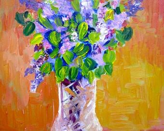 Lilac Bouquet Original Oil Painitng
