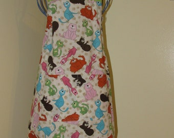 Child's 7/8 Apron  Cats  (# 353 )