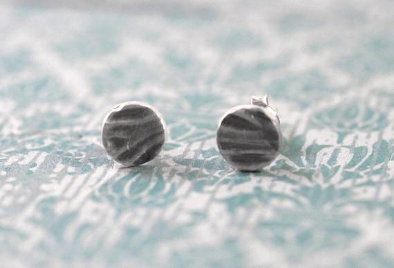 wood simple studs - wood grain stud earrings wood grain earrings wood studs faux bois earrings silver wood grain earrings