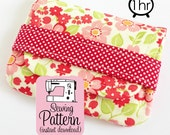 Card Wallets PDF Sewing Pattern | Business Card Case PDF Pattern Sewing | Gift Card Wallet Pattern | Coin Change Purse Pattern
