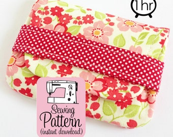 Card Wallets PDF Sewing Pattern | Sew pouches to use for business card cases, gift cards, mini wallets, or coin purses. Three sizes.