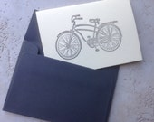 Letterpress bicycle card