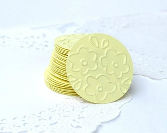 Floral Stickers, Flower Envelope Seals, Yellow Flower Stickers, Yellow Stickers