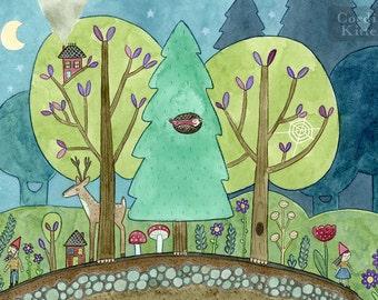 Forest Neighborhood Art Print