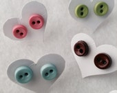 Spot On!  Button your ears tiny dot earrings... New Colors
