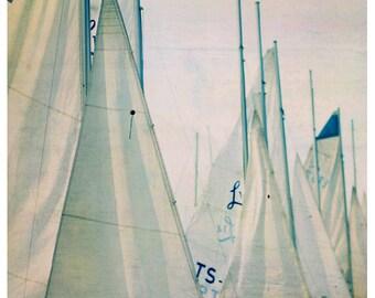Nature Photography - Sail Boat Photograph - Michigan Art  - Fine Art Print - Summer Art - Travel Art - Boat Print - Sail Boat Art Print