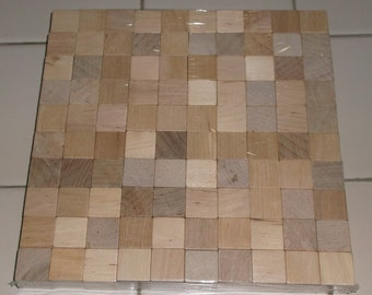 3/4 inch - Unfinished Birch Wood Cubes - 100 Blocks