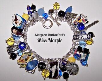 Margaret Rutherford's MISS MARPLE Mystery Charm Bracelet