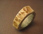 Deer horn Antler ring band size 5.25 Elk stag ring