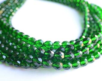 The Rebecca- Emerald Czech Glass Statement Necklace