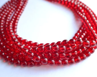 Michelle - Red Glass Bridesmaid Statement Necklace