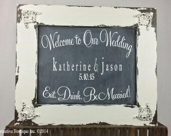 Vintage CHALK BOARD sign, Wedding Sign, Home Decor