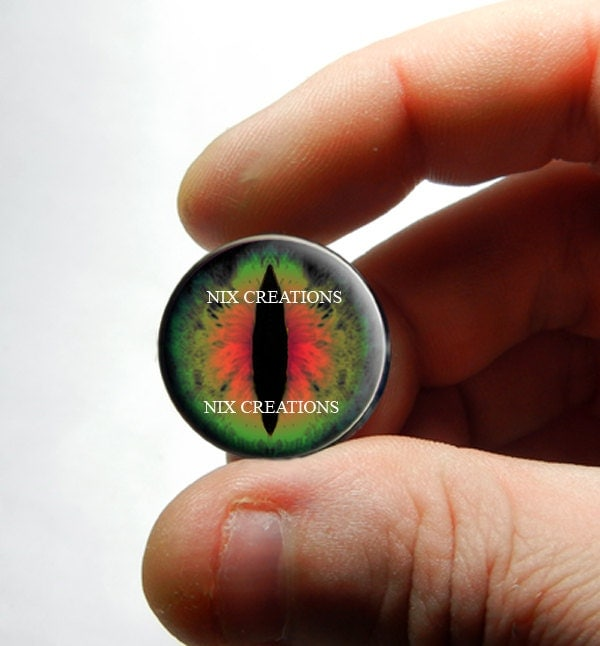 12mm Glass Eyes - Set of Green Red Dragon Glass Taxidermy Eyeball Cabochons for Steampunk Jewelry Pendants and Ring Making steampunk buy now online