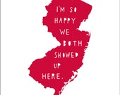 NEW JERSEY | I'm So Happy | state print | state art | wedding gift | anniversary gift for men |Valentine's gift for him, gift for wife, love