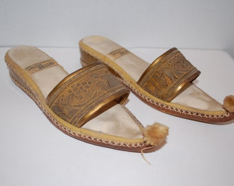 Vintage slippers from Turkey