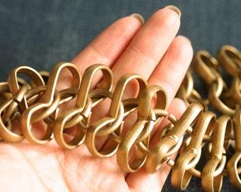 Large Aluminum Infinity Chain - Matte Antiqued Bronze - 1ft