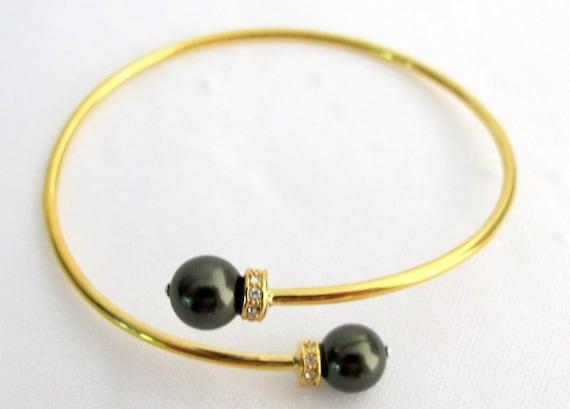 Green Jewelry Green Bracelet Christmas Gift Girl Friend Gift Gold Cuff Bracelet Dark Green Bracelet