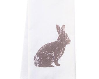 ORGANIC block print bunny towel