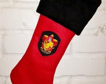 Gryffindor Christmas Stocking - Full Size - Harry Potter Inspired