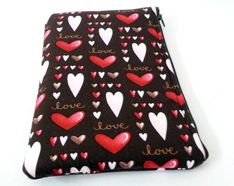 Valentine Heart Padded Sleeve for Kindle Fire or Kindle Keyboard
