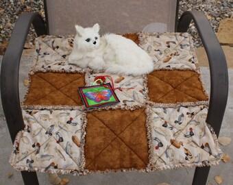 Cat Blanket, Brown Cat Blanket, Boy Cat Blanket, Ducks And Fish Cat Blanket, Luxury Cat Blanket, Catnip Mat, Pet Mat, Catnip Blanket