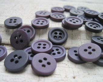 vintage buttons/deep violet mix 100 matte finish
