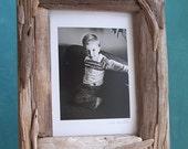 Driftwood Frame 5 x 7, Nautical Decor, Upcycled Frame, Nursery Decor Frame
