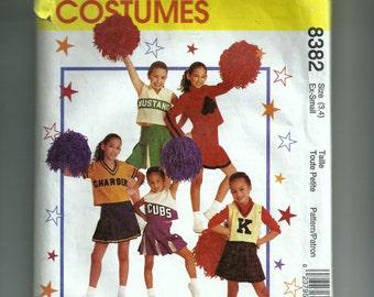 McCall's Girls' Cheerleading Costume Pattern 8382