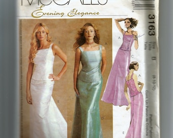 McCall's Misses' Lined Top and Skirt Pattern 3163